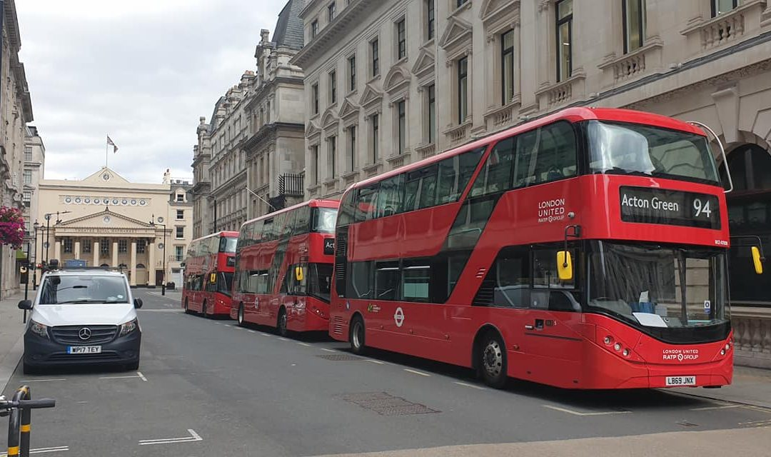 2 Red London Buses