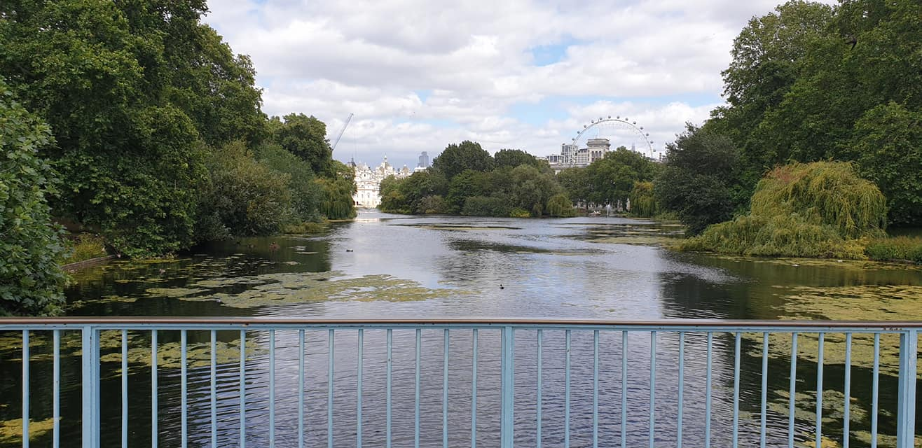 The Blue Bridge, St. James' Park, London