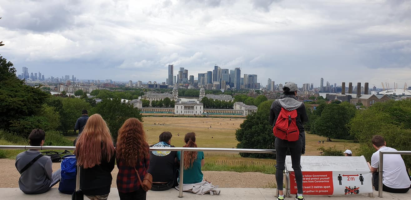 The highest point in Greenwich Park, London
