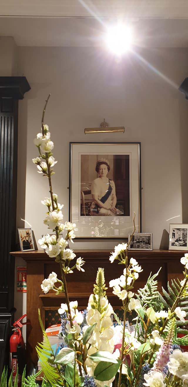 Queen Elizabeth at Hatchard's Bookstore