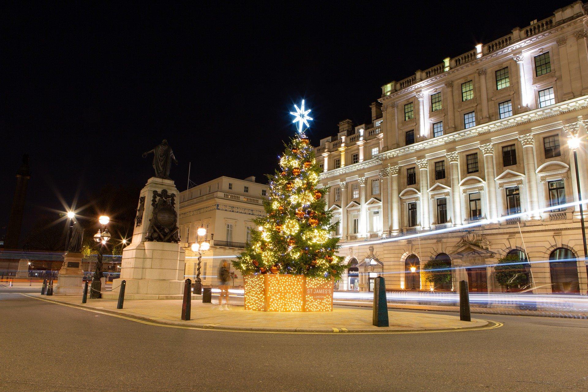 Christmas tree in London