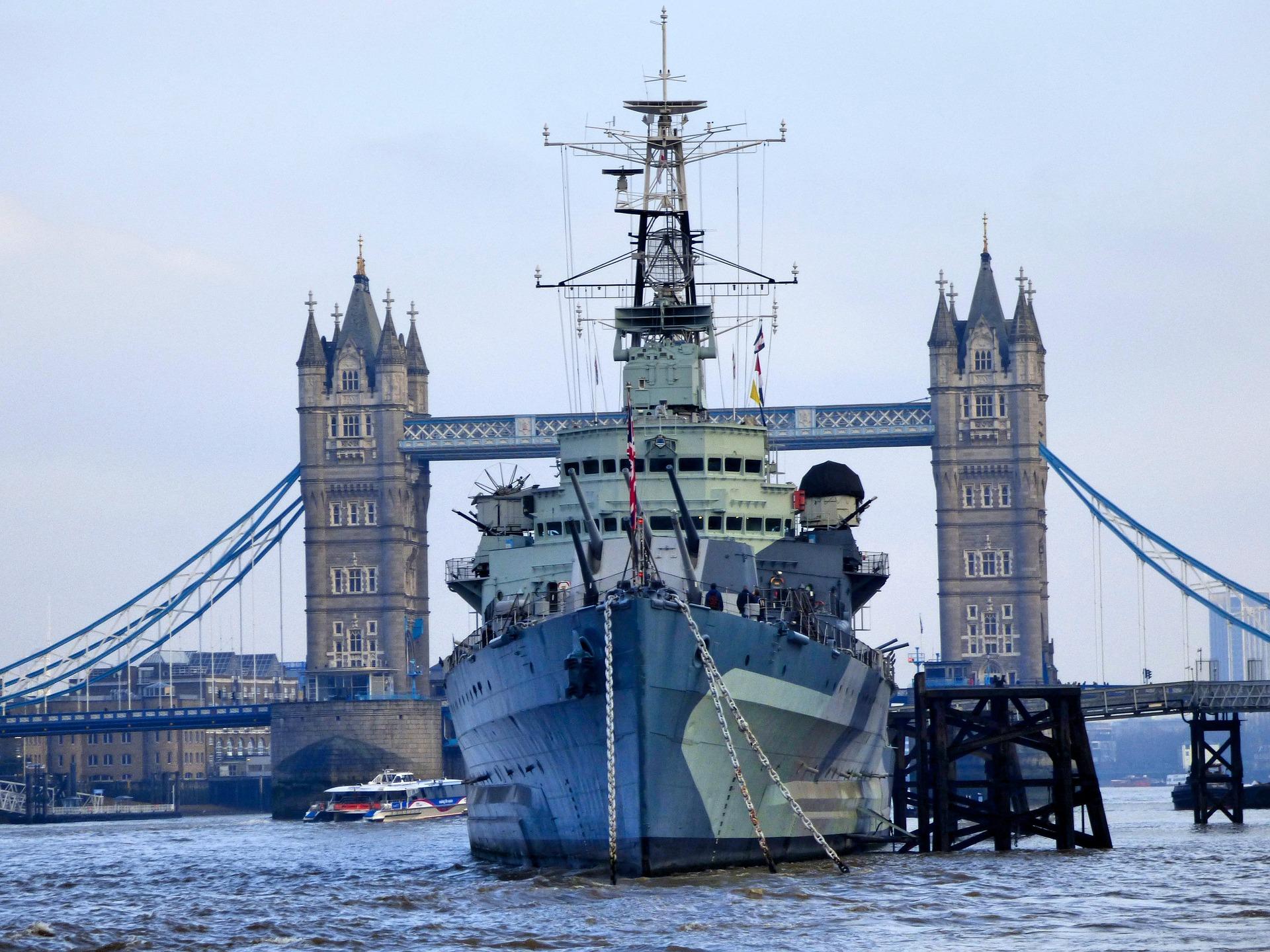 HMS Belfast Naval Ship