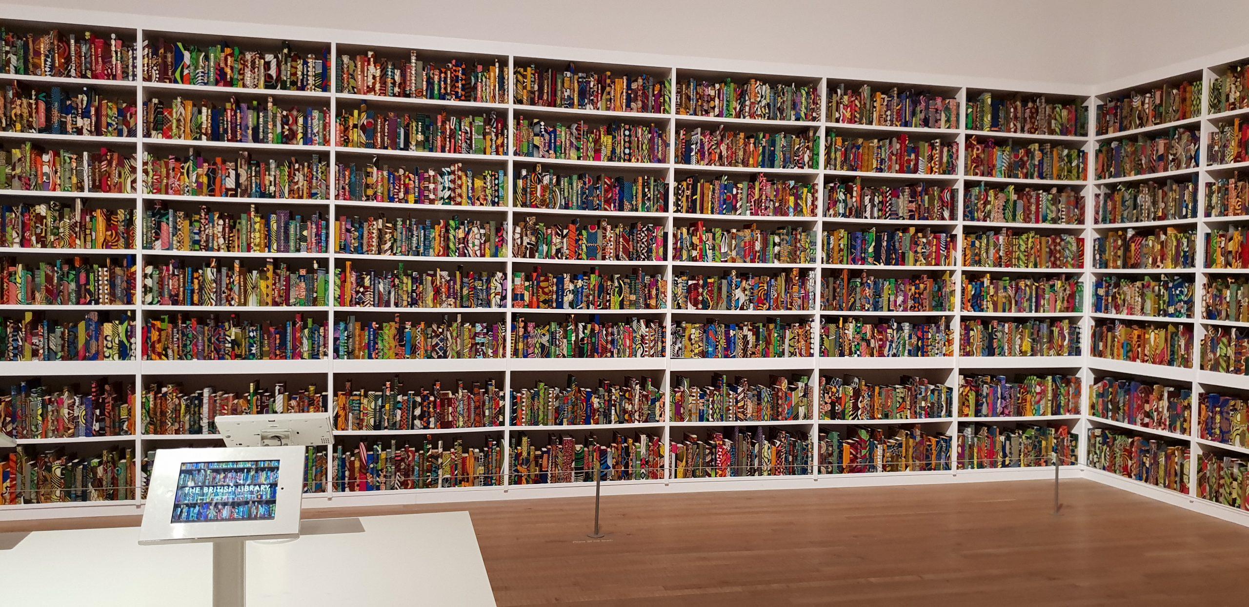 A replica of a library in Tate Modern