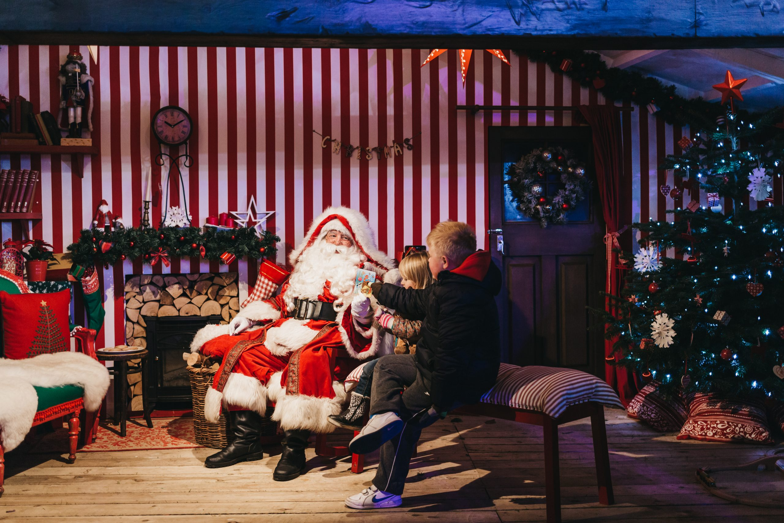 Santa's Grotto in Winter Wonderland London