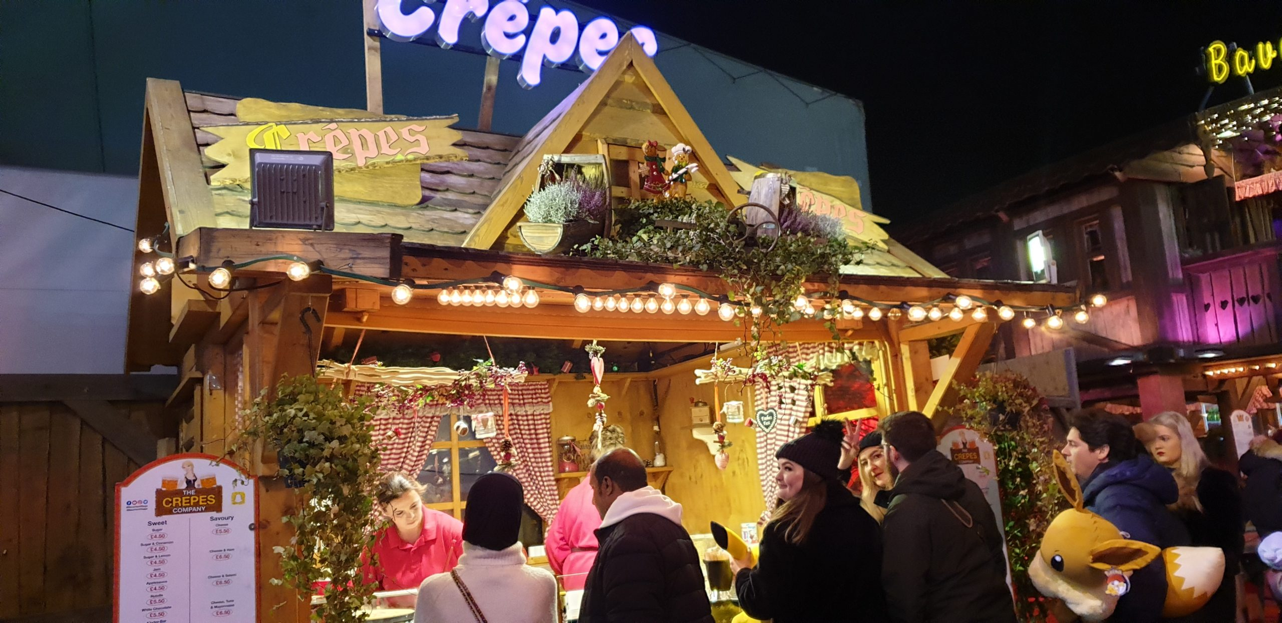Winter Wonderland food stall in London