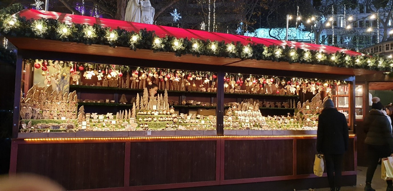 Leicester Square Christmas stalls