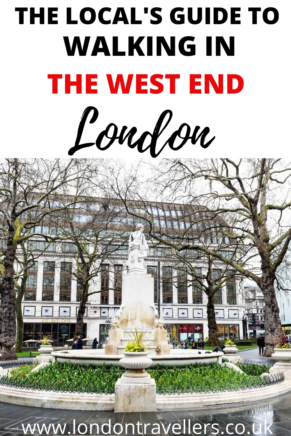 Walking in the West End London