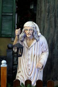 Scrooge statue in Winter Wonderland London